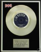 "BILLY FURY 7"" Platinum Disc-I'LL NEVER FIND ANOTHER YOU"